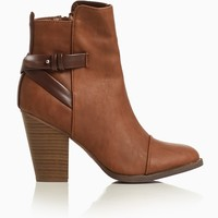 Brown-Faux-Leather-Tall-Ankle-Boot