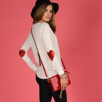 Hearted Sweater Top