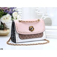 COACH 2019 new rivet chain shoulder messenger bag #4