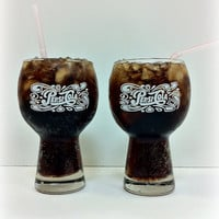 Pepsi Cola Glasses Rounded Top by vintage19something on Etsy