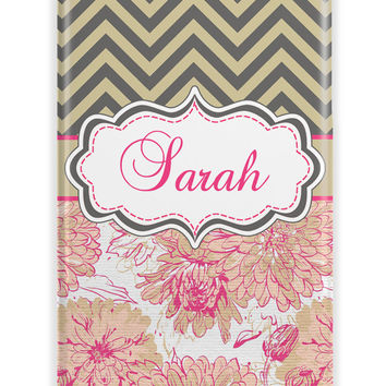 Pretty floral Iphone case for women - Pink and forest green
