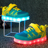 Children Shoes Light Led luminous Shoes Boys Girls USB Charging Sport Shoes Casual Led Shoes Kids Glowing Sneakers zapatillas