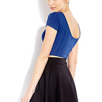 FOREVER 21 Tonal Stripes Crop Top