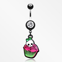 Emo Skull Cupcake Belly Button Ring