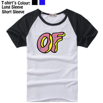 Odd Future Wolf Gang Tyler the Creator Sky Design Pattern Long Short Sleeves T-Shirt Men's Boy's Tee Tops Black or Blue Sleeves