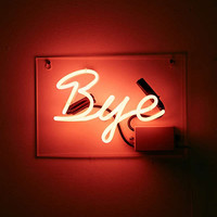 Bye Neon Sign | Urban Outfitters