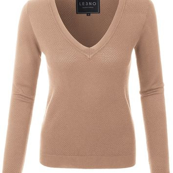 Slim Fit V Neck Knitted Sweater (CLEARANCE)