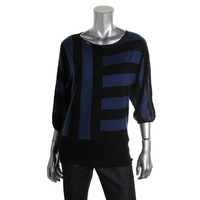 Style & Co. Womens Petites Striped Knit Knit Top