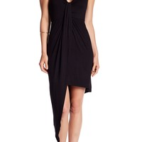 Vanity Room | Draped Asymmetrical Hem Dress | Nordstrom Rack