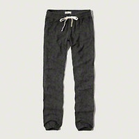 A&F Patterned Banded Sweatpants