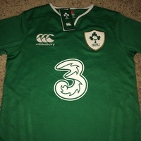 Sale!! Canterbury IRELAND IRFU Rugby Soccer Jersey Football Shirt