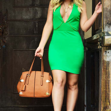 The Lucky One Dress: Green