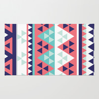 Tribal Area & Throw Rug by Ashley Hillman