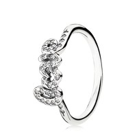 PANDORA Ring - Sterling Silver & Cubic Zirconia Signature of Love