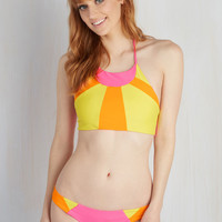 Neon a Winning Streak Swimsuit Top | Mod Retro Vintage Bathing Suits | ModCloth.com