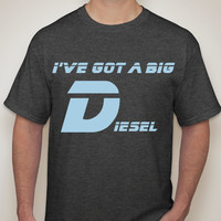 Mens T-shirt. IVE GOT a BIG D. Diesel tshirt. Cummins. Duramax. Powerstroke. Mens tops. Southern shirts. Diesel trucks tshirt