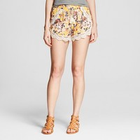 Women's Crochet Trim Short Yellow - Xhilaration™ (Juniors')