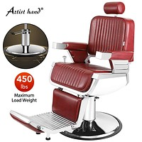 Artist Hand Heavy Duty Hydraulic Recline Barber Chair Salon Chair Barber Chairs for Hair Stylist Tattoo Chair Barber Salon Equipment (Black)