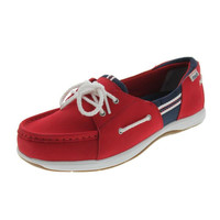 Ryka Womens Cayman Leather Slip On Boat Shoes