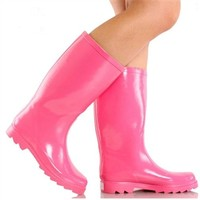 Walking on Sunshine Rain Boots - Pink