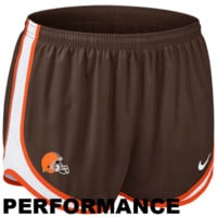 Nike Cleveland Browns Ladies Tempo Performance Running Shorts - Brown