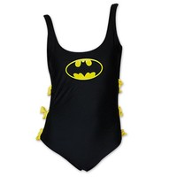 Batman One Piece Women's Bow Bathing Suit | TeesForAll.com