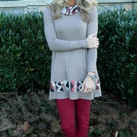 Touch of Sparkle Tunic Mocha