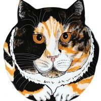 Sydney - Calico Cat Head Plate