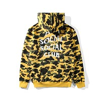 BAPE x ANTI SOCIAL SOCIAL CLUB Joint Series Camouflage Hoodie F-A-KSFZ Camouflage yellow