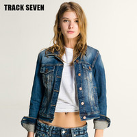 Autumn Women Slim Jeans Outerwear Jacket Top a12981