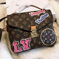 """Louis Vuitton"" LV Popular Women Shopping Monogram Leather Handbag Shoulder Bag Crossbody Satchel"