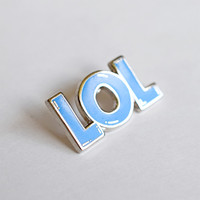 LOL Lapel Pin by Will Bryant