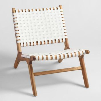 White Strap Girona Outdoor Accent Chairs Set Of 2