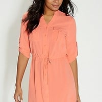 shirtdress with button down front | maurices
