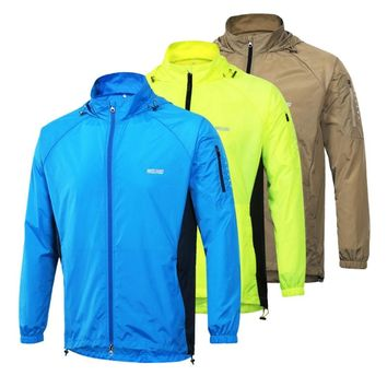 Top Quality Mens Running Jacket UV Protection Racing Suits Running Jerseys Fitness Sportswear Clothing Sport Jackets For Men