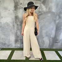 Morning Glory Linen Jumpsuit