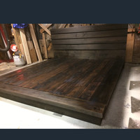 Hardwood platform queen bed
