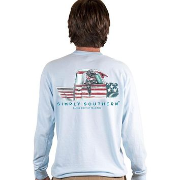 Simply Southern Truck Lab Unisex Comfort Colors Long Sleeve T-Shirt