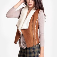 The Yukon Wilderness Faux Suede Vest