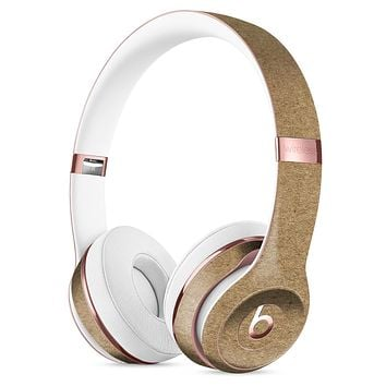 Brown Cork Surface Full-Body Skin Kit for the Beats by Dre Solo 3 Wireless Headphones