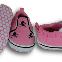 Skulls Baby Shoes|Pink Girls Shoes
