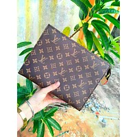 LV classic old chess board men and women clutch bag large capacity envelope bag