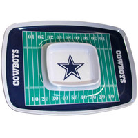 Dallas Cowboys NFL Chip & Dip Tray