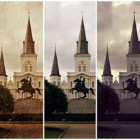St Louis Cathedral Vintage Print | New Orleans Photography | Home Decor | Home & Office | Gift Under 30