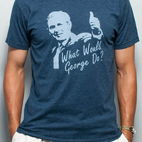 What Would George Do? Vintage Tee Shirt - Midnight Navy