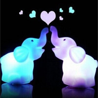7 Changing Colors Lovely Elephant Shape LED Night Light Decoration Candle Lamp Nightlight Nice Children Kid Gift [9303708938]