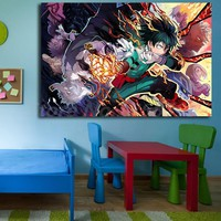 Anime Boku No Hero Academia Wallpapers Wall Art Canvas Posters Prints Painting Wall Pictures For Office Living Room Home Decor
