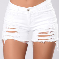 Day Over Shorts - White