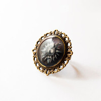 House Nymeros Martell of Sunspear Crest - Game of Thrones Jewelry - Martell Jewelry - A Song of Ice and Fire - Handmade Vintage Cameo Ring