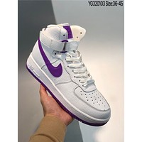 Nike Air Force 1 High '07 3'White-blue cheap Men's and women's nike shoes